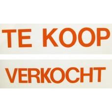 BORD TE KOOP/VERKOCHT WIT/ROOD