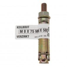 KEILBOUT VERZINKT M8X55X40