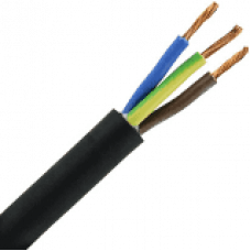 3 X 1 NEOPREEN SNOER H07RNF ZWART