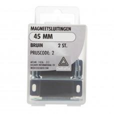 MAGNEETSLUITINGEN BRUIN 45 MM 2 ST