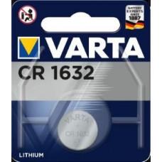 VARTA KNOOPCEL LITHIUM CR1632 3V Ø16X3,2MM, OP BLISTER