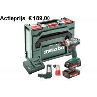 METABO BS 18 QUICK SET 2X2,0AH, SC60 ACCUBOORMACHINE