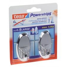 TESA POWERSTRIPS CHROOM OVAAL 58050/12 (KERN)