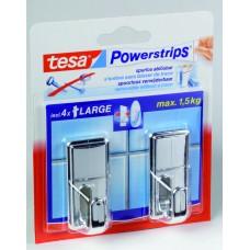 TESA POWERSTRIPS LARGE CLASSIC CHROOM 10 0 CHROOM