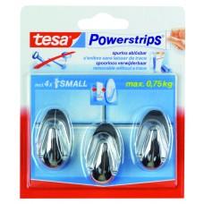 TESA POWERST.MINI CHROOM OVAL 57543/12 (KERN)