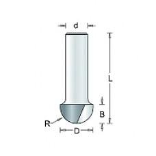 614-8 HM TCT HOLPROFIELFREES , D= 12,7, R= 6,3