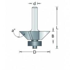105-8 HM KANTENFREES ONDER HOEK , D= 22,2, A= 22