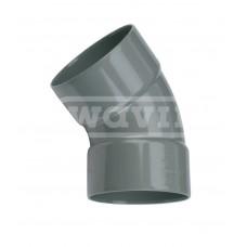 PVC LIJM 45 GRADEN BOCHT 125 MM